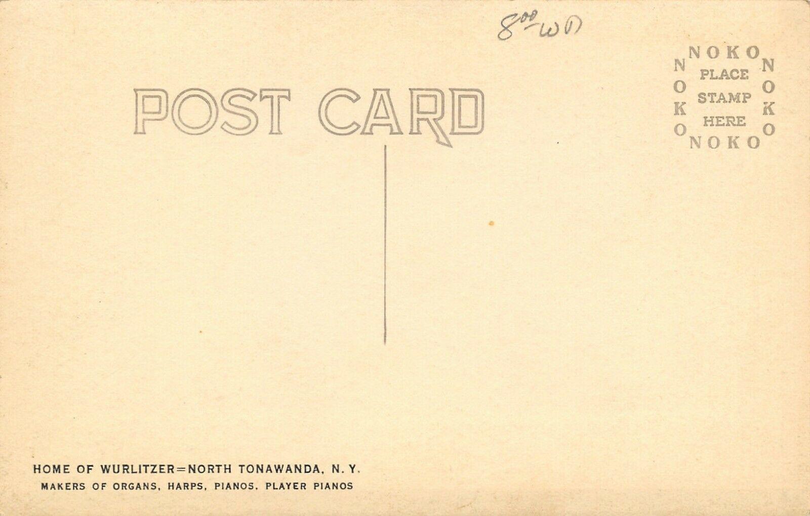 General View of Wurlitzer Factories, postcard (c1928) back.jpg