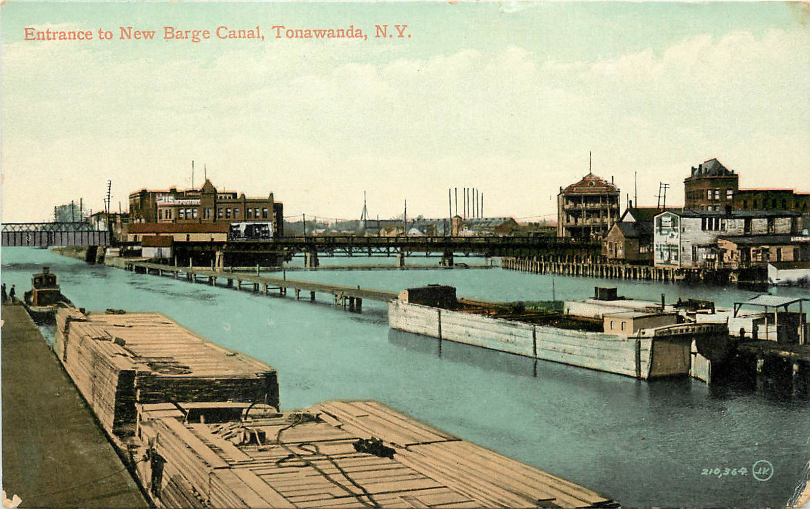 Entrance to New Barge Canal, postcard (c1912).jpg
