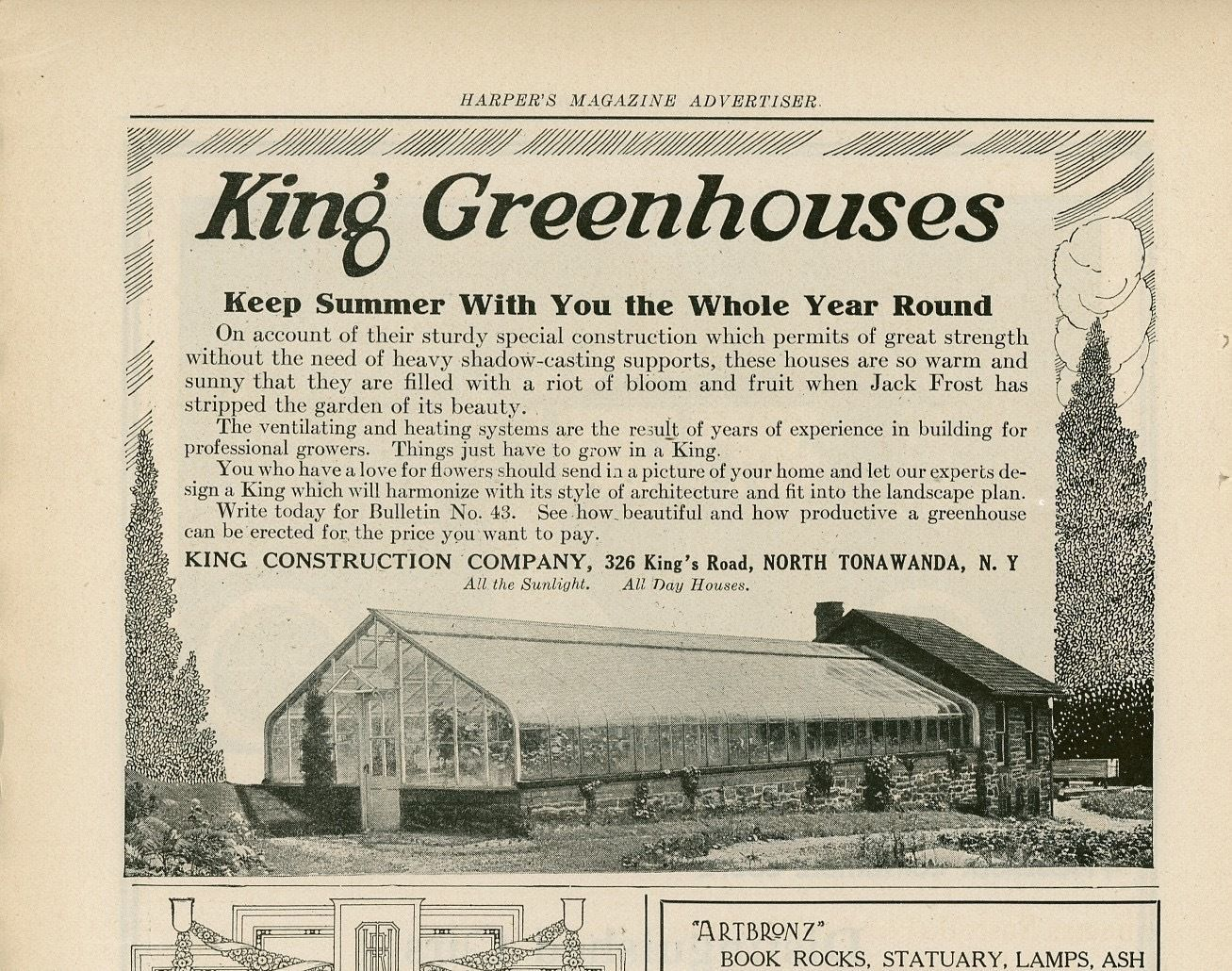 King Construction Company, illustrated ad (Harpers, 1916).jpg