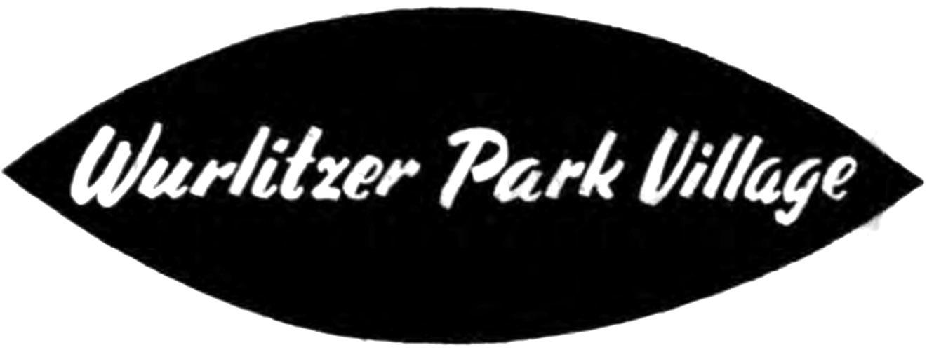 Wurlitzer Park Village graphic element, logotype, from ad (1959).jpg