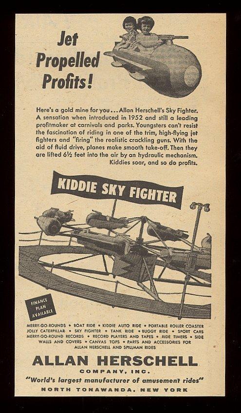 Allan Herschell Kiddie Sky Fighter, ad (1954).jpg