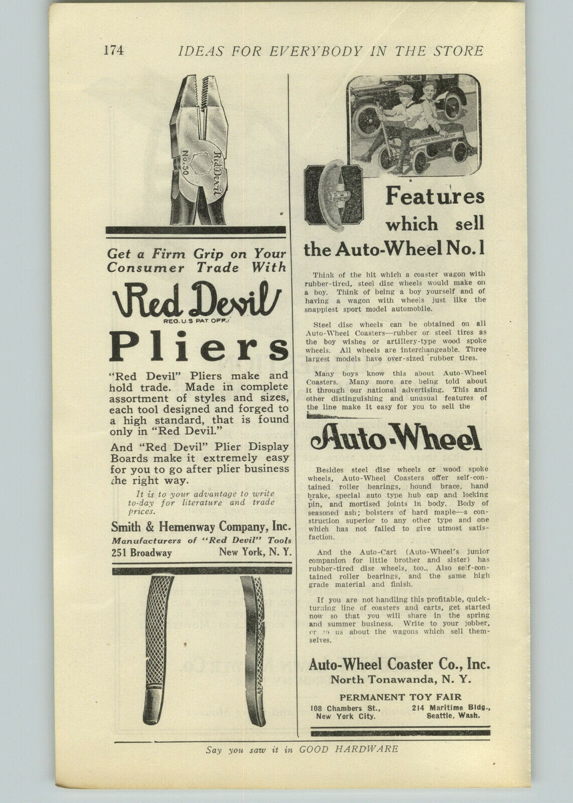 Auto Wheel No. 1, ad (Good Hardware, 1923).jpg