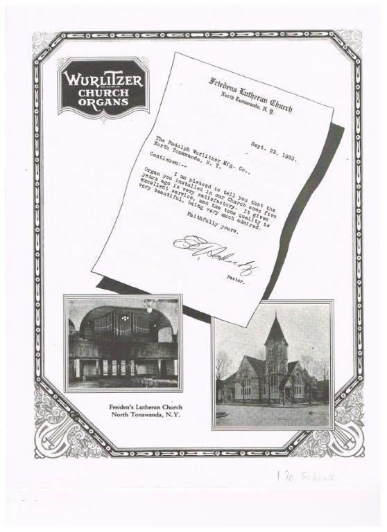 Wurlitzer organ ad featuring Friedens Church (1923).jpg