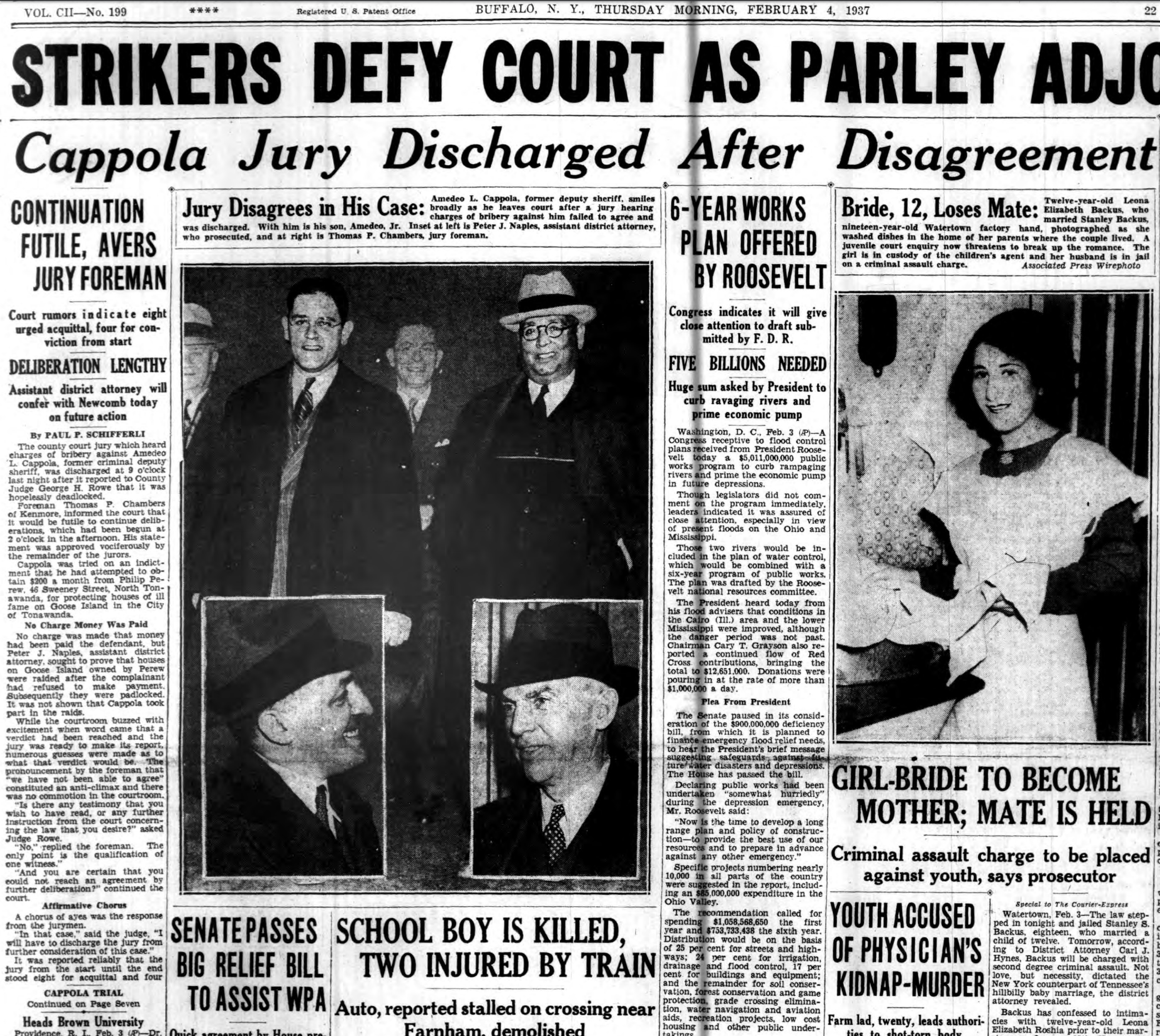 Cappola jury discharged, part 1, article (Buffalo Courier-Express, 1937-02-04).jpg