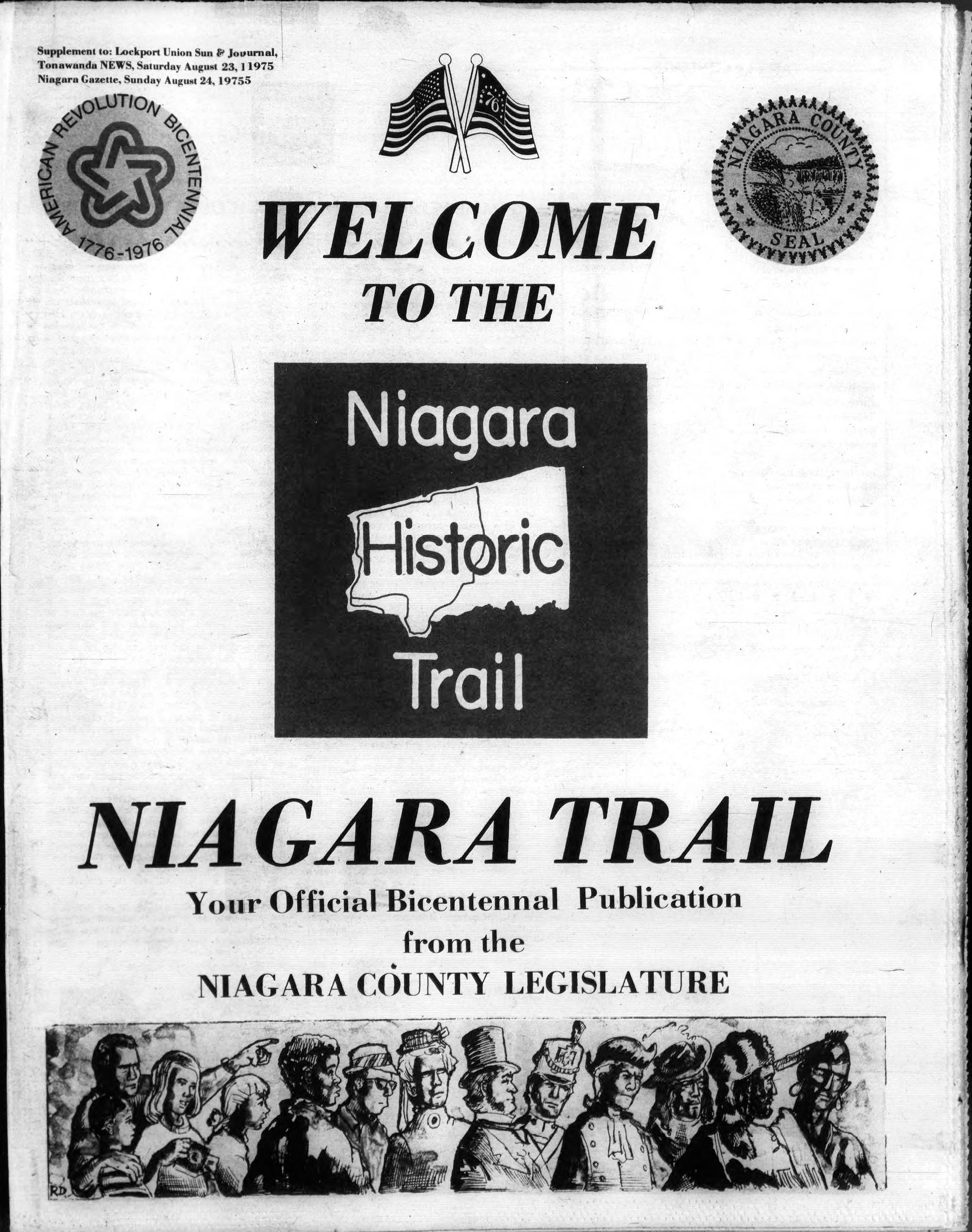 Niagara Trail Bicentennial Publication, cover (Ton News 1975-08-23).jpg