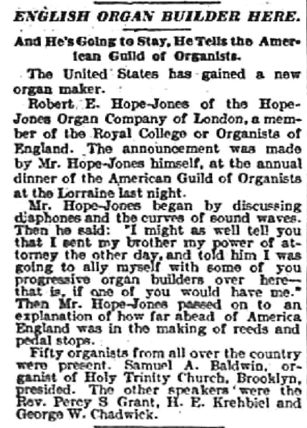 English organ builder here, article (New York Sun, 1903-05-28).jpg