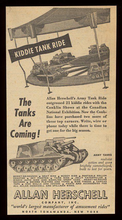 Kiddie Tank Ride, Allan Herschell Co, ad (1954).jpg