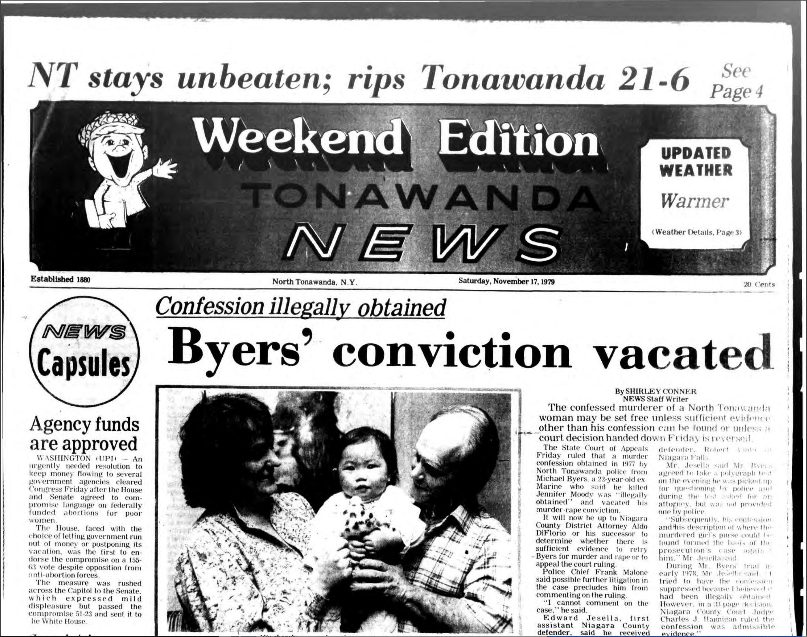 NT stays unbeaten, headline (Tonawanda News, 1979-11-17).jpg