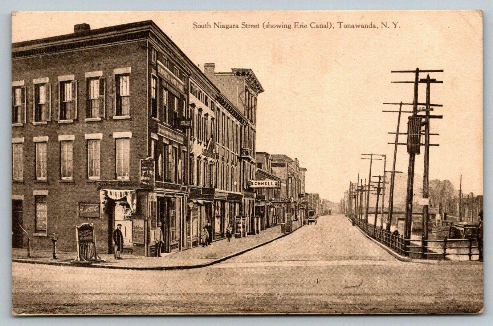 South Niagara Street (showing Erie canal), postcard (1910-09-21).jpg