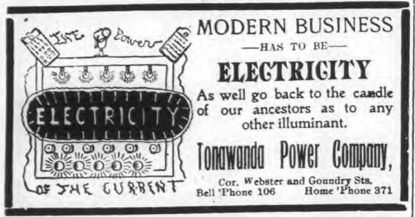 Tonawanda Power Company, illustrated ad (Ton News, 1905-02-26).jpg