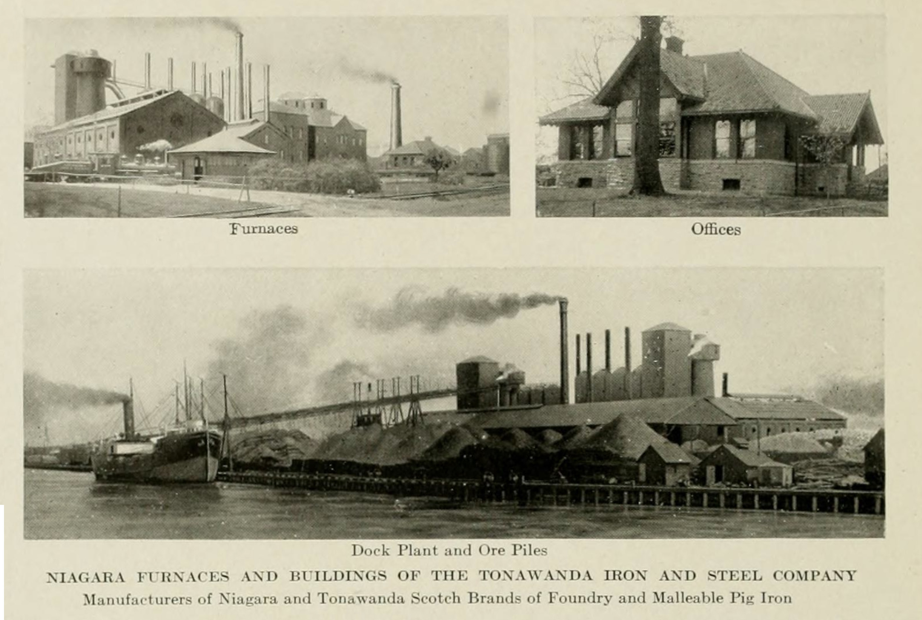 Tonawanda Iron and Steel, photos (Greater Buffalo & Niagara frontier, Buffalo Chamber of Commerce, 1914).jpg
