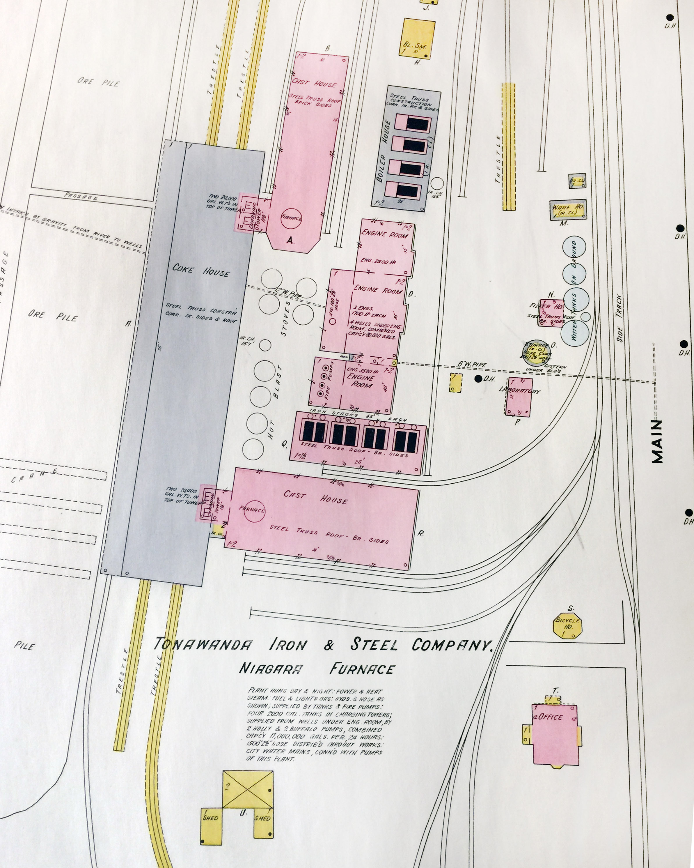 Tonawanda Iron and Steel, Niagara furnace, map detail (Sanborn Map Company, 1910, 1913).jpg