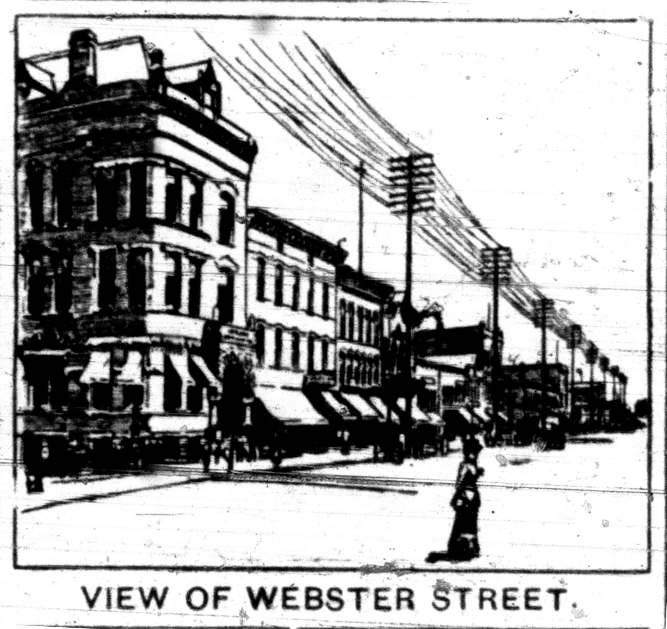 View of Webster Street, illustration (1893-08-05 Tonawanda News).jpg