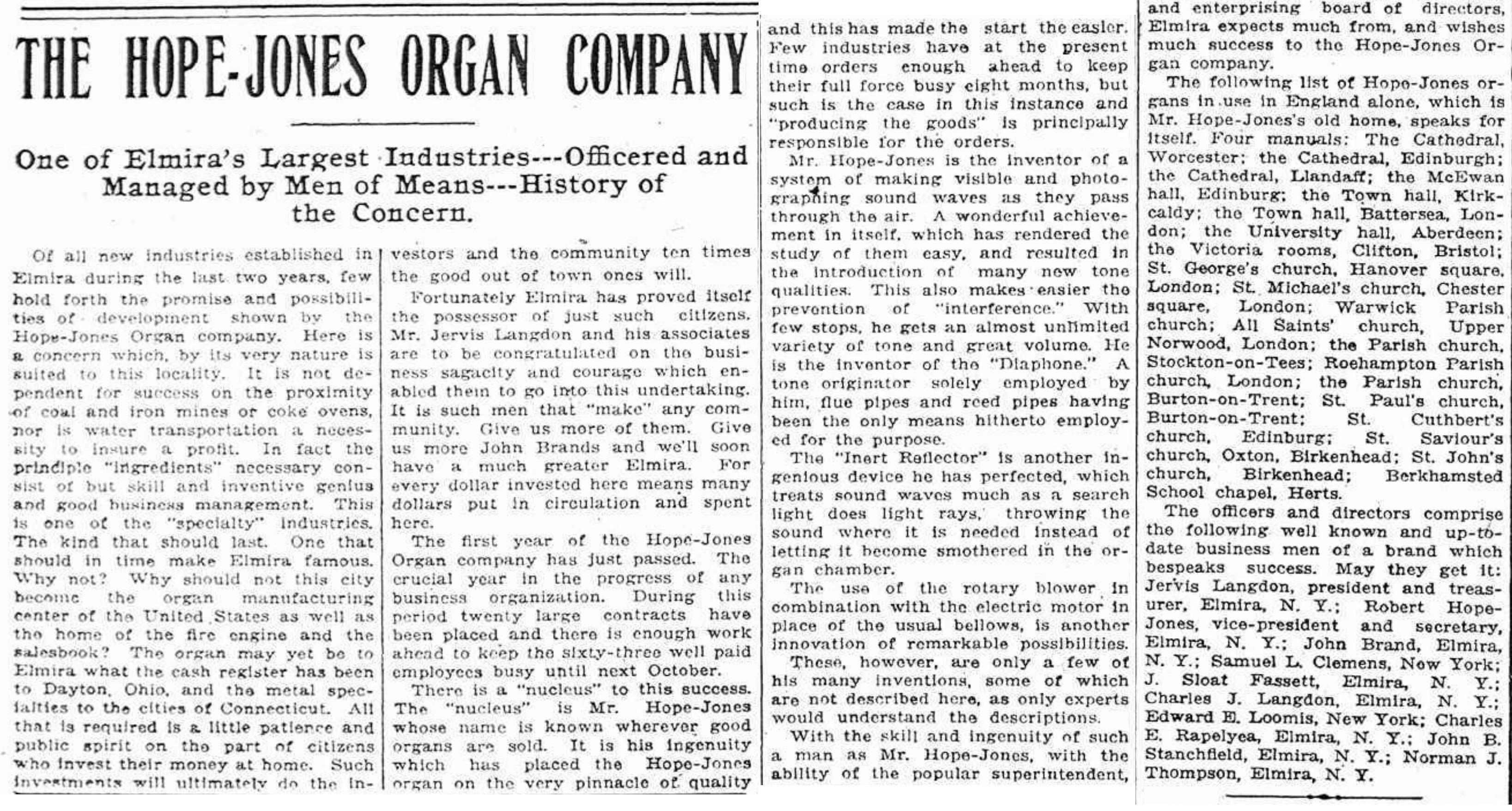 The Hope-Jones Organ Company, article (Elmira Star-Gazette, 1908-04-05).jpg