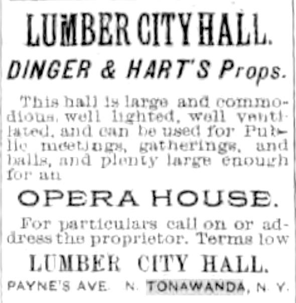 Lumber City Hall, opera house, ad (1893-09-29).jpg