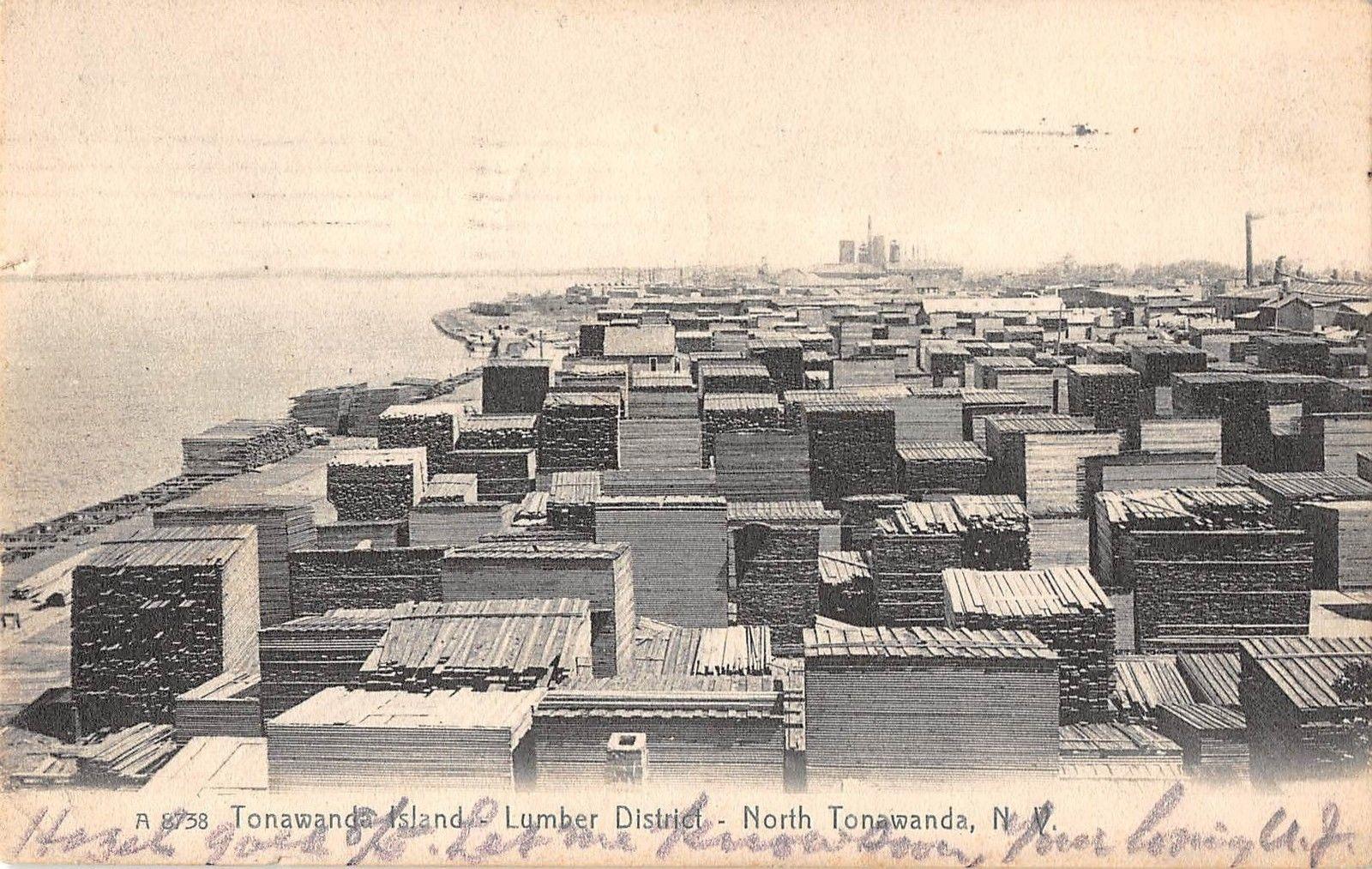 Tonawanda Island - Lumber District - North Tonawanda NY, postcard (1908).jpg