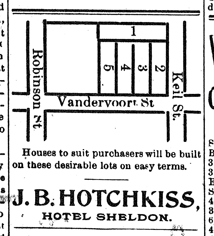 JB Hotchkiss - Lots on Vandervoort and Keil Street - 1896.jpg