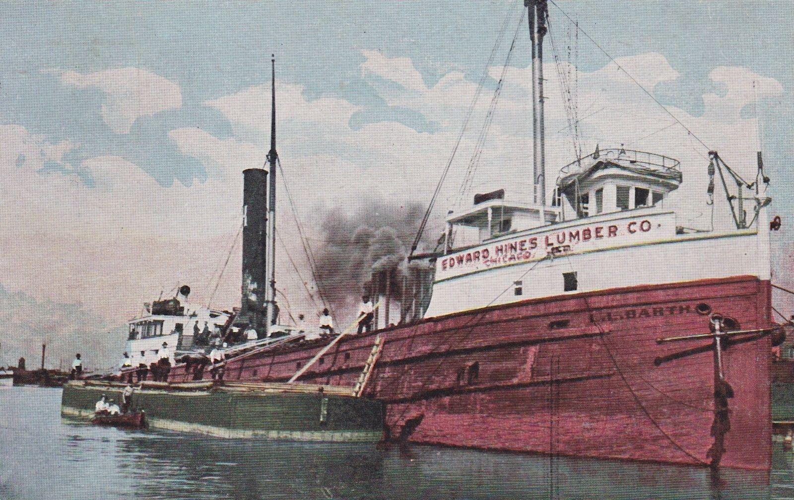 Edward Hines Lumber Co of Chicago in North Tonawanda, photo postcard (1913).jpg