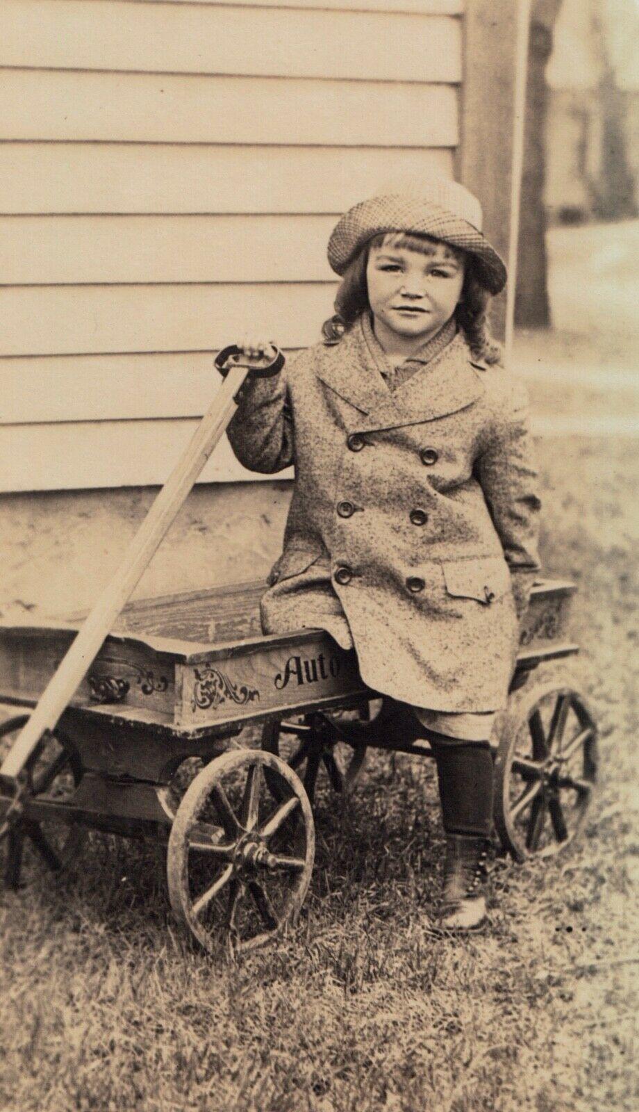 Auto-Wheel Coaster and girl, photo postcard (c1910).jpg
