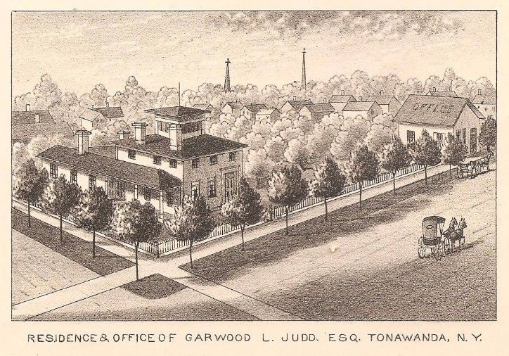 Residence and office of Garwood L. Judd, Esq., illustration (History of Niagara County, 1821-1878).jpg