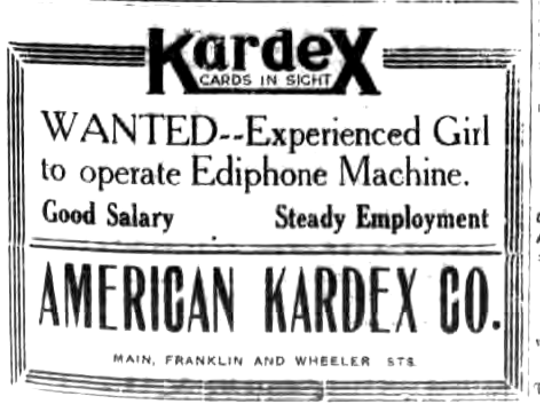 Kardex logotype (Tonawanda News, 1921).jpg