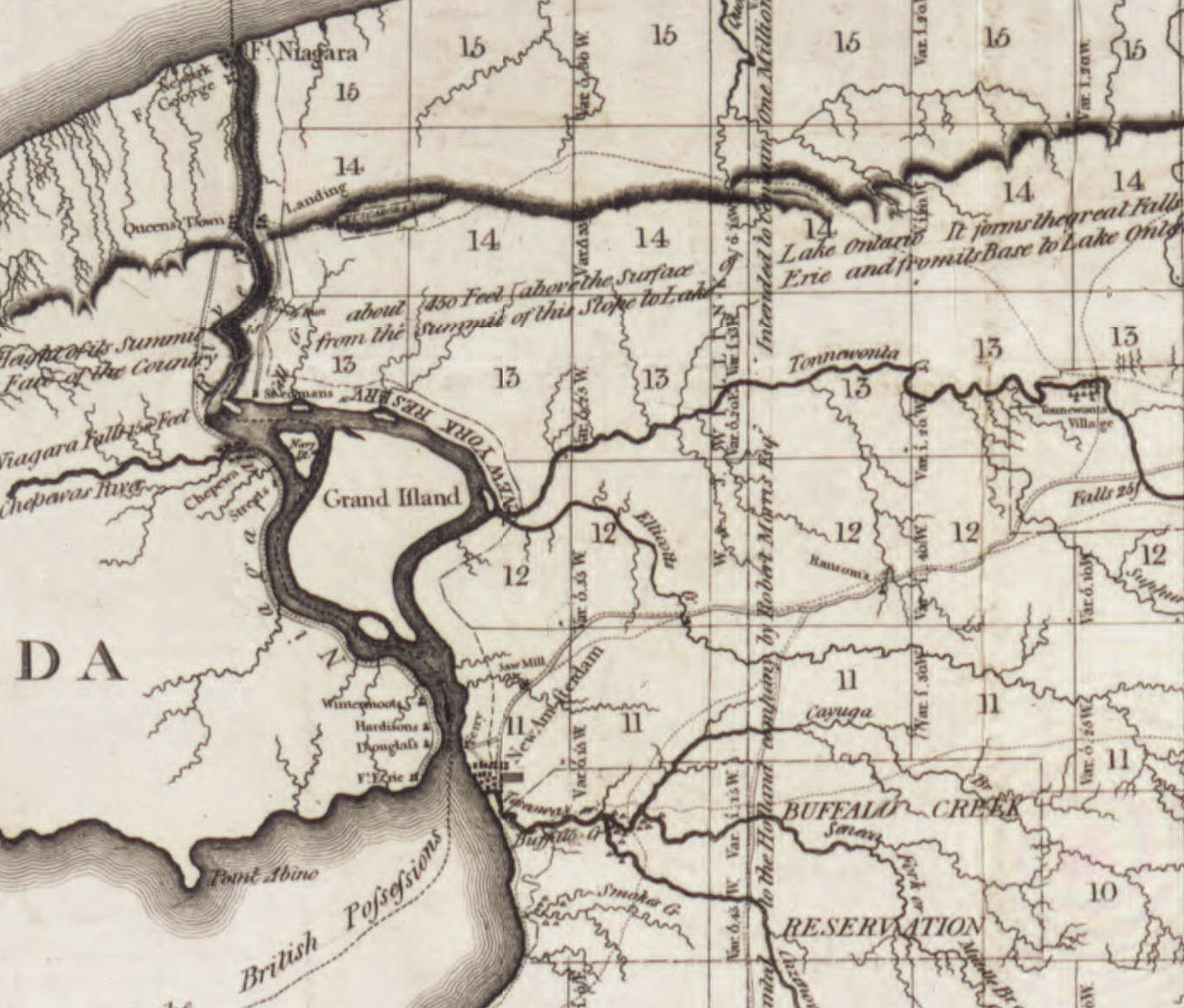 Map of Genesee with counties, towns and roads (Archives of the Holland Land Co., c1810).jpg