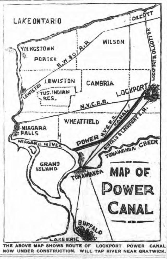 Map of Power Canal to Lockport, illustration (Tonawanda News, 1904-04-15).jpg