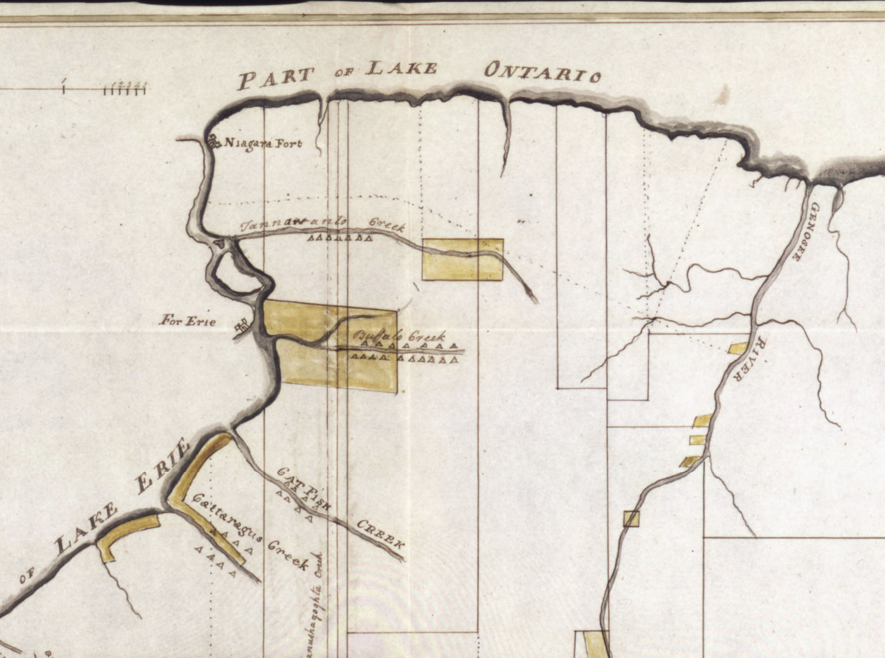 Map of the West Genesee Lands with Indian territories, map (Archives of the Holland Land Co., 1797).jpg