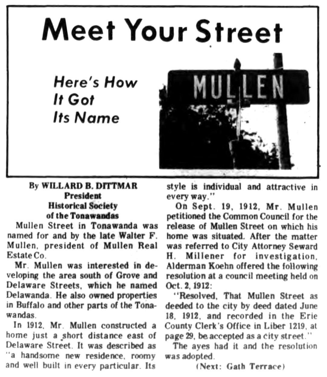 Meet Your Street - Mullen in Tonawanda (Tonawanada News, 1970-10-24).jpg
