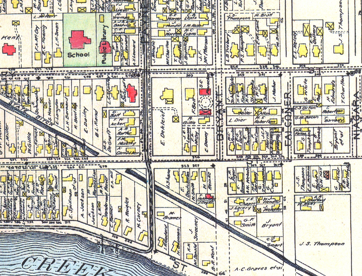 de Kleist residence on Payne Ave, map detail (1908).jpg