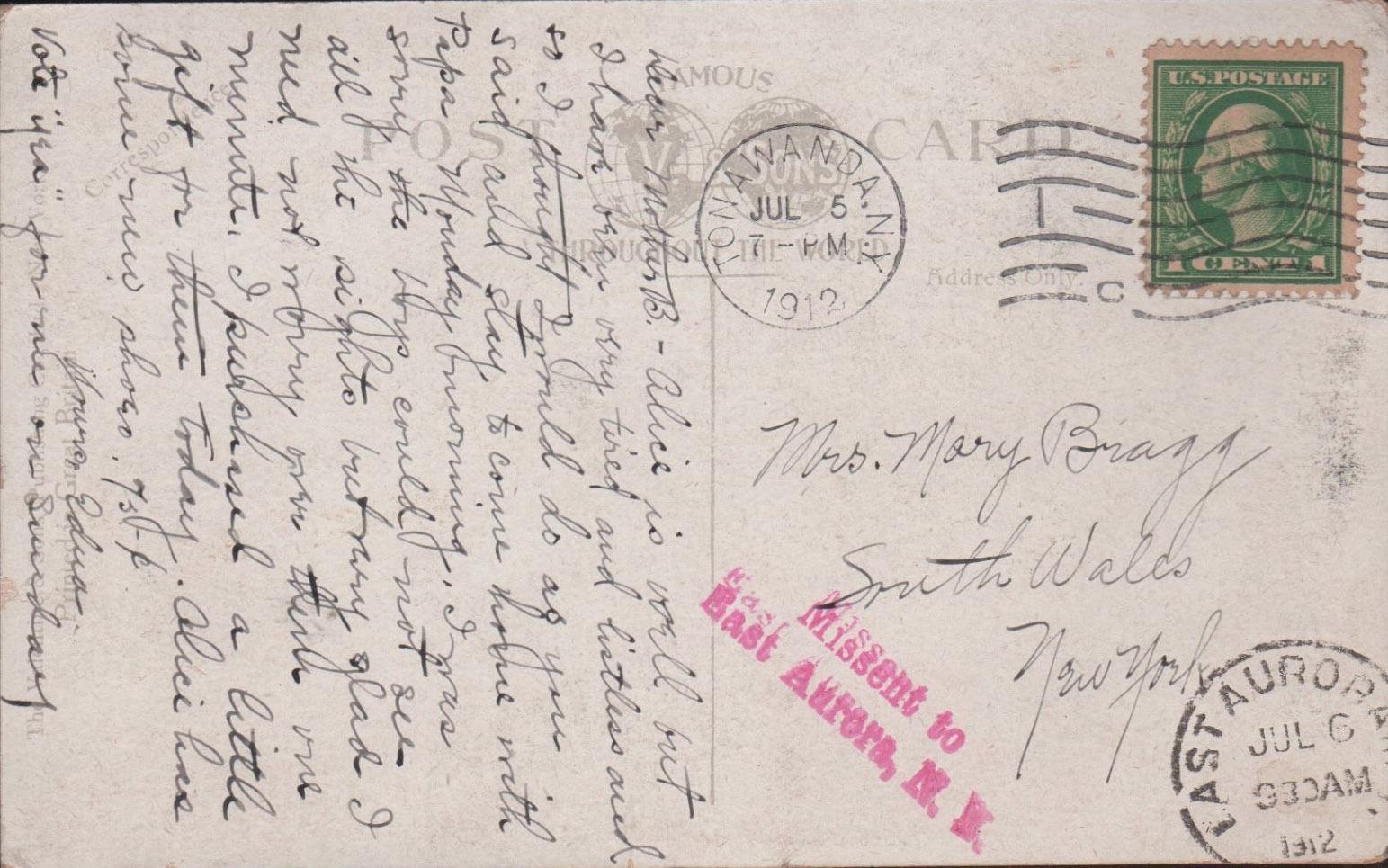 Tonawanda Iron and Steel Works, postcard back (1912-07-06).jpg