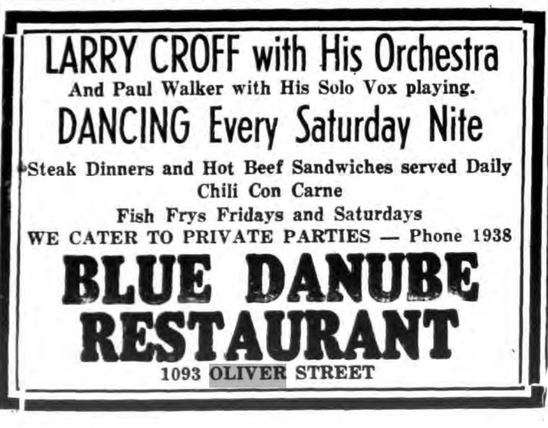 Blue Danube Restaurant, 1093 Oliver, as (1947).jpg
