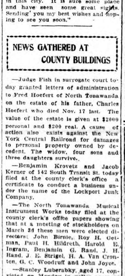 NTMIW Election of Directors, Birnie, Woodruff (Lockport Union-Sun and Journal, 1919-03-05).jpg