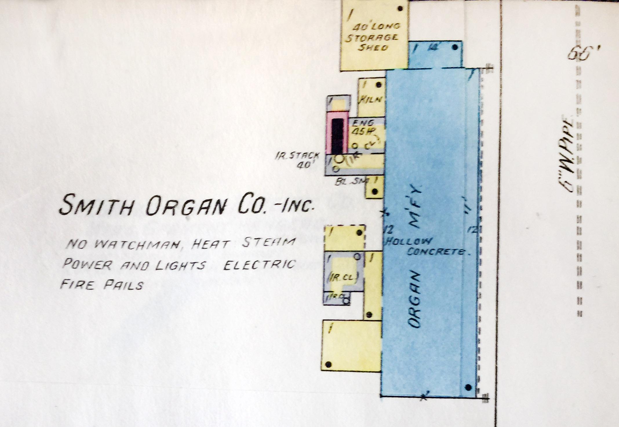 Smith Organ Company, Inc., map detail (Sanborn Map Company, 1910).jpg