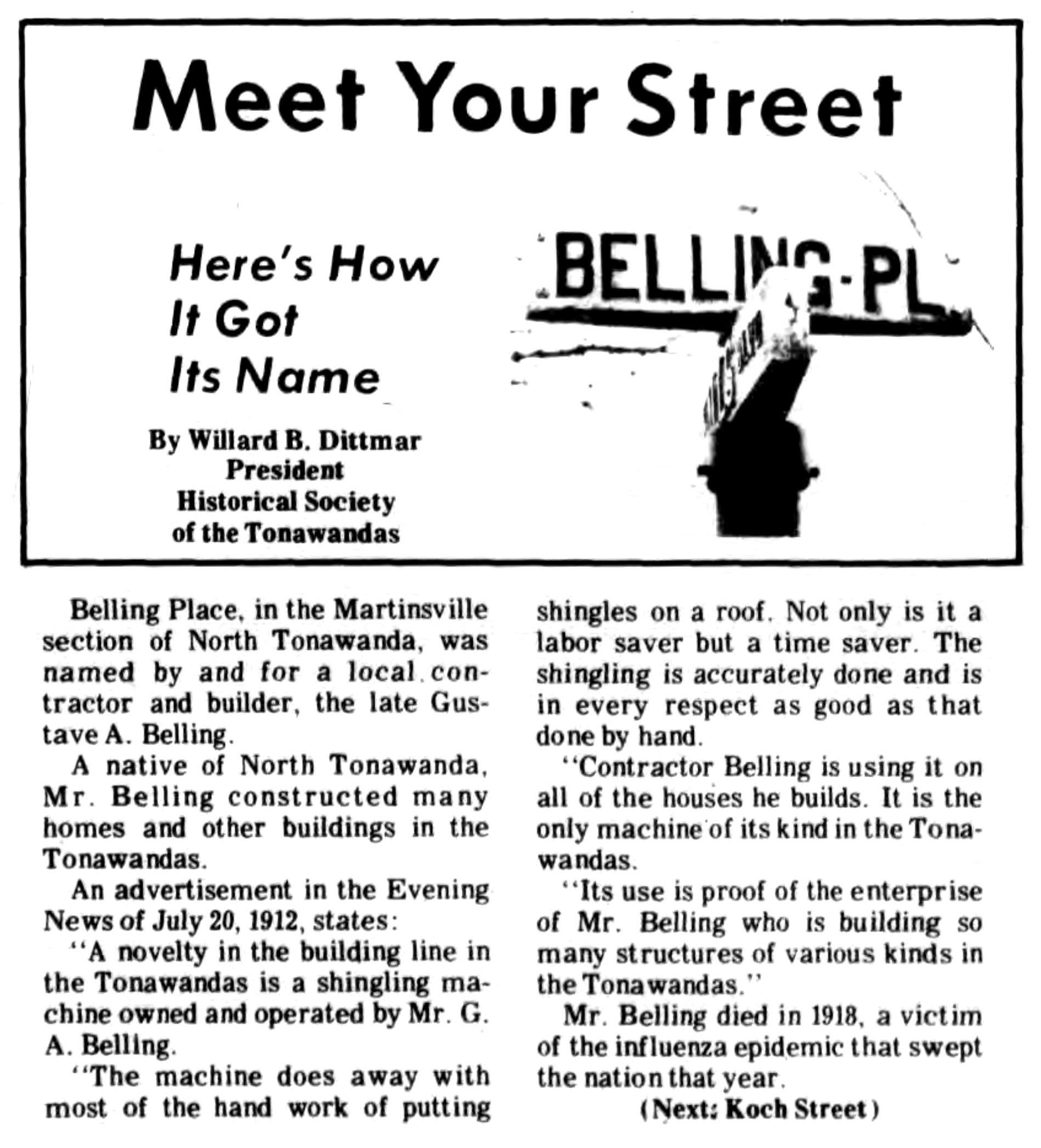 Meet Your Street - Belling Place (Tonawanada News, 1971-01-06).jpg
