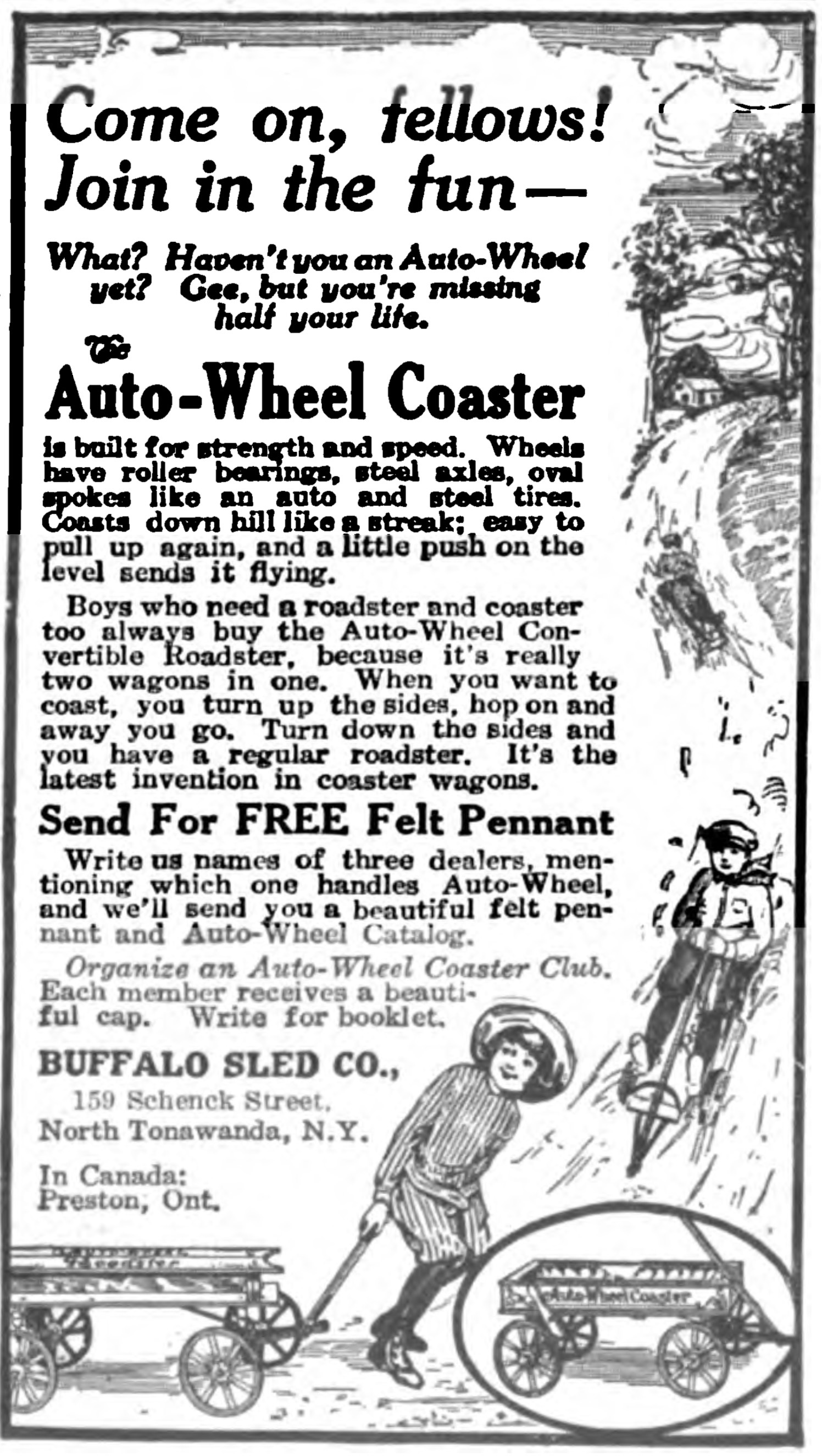 Come on fellows, join in the fun, ad (Everyday Engineering Magazine, 1918-11).jpg