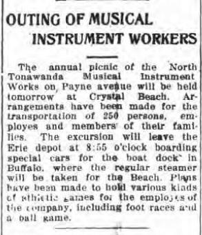 Outing of Musical Instrument Workers, Crystal Beach, article (Tonawanda News, 1914-07-23).jpg
