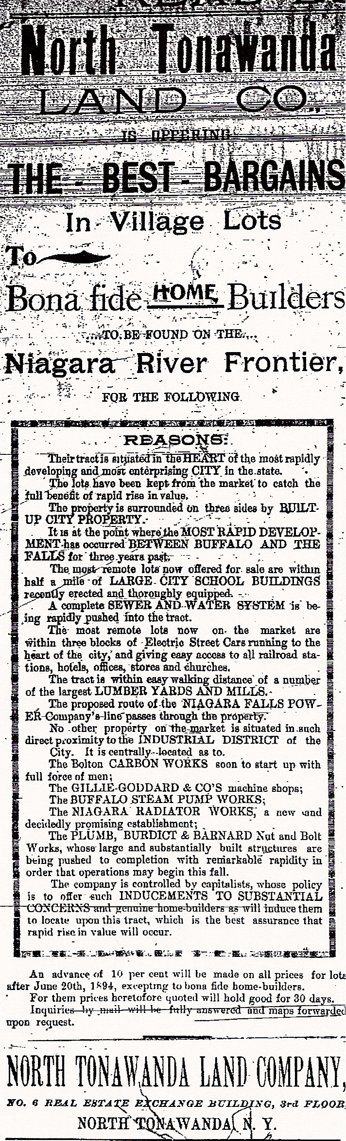 North Tonawanda Land Co, ad (Tonawanda News, 1894).jpg