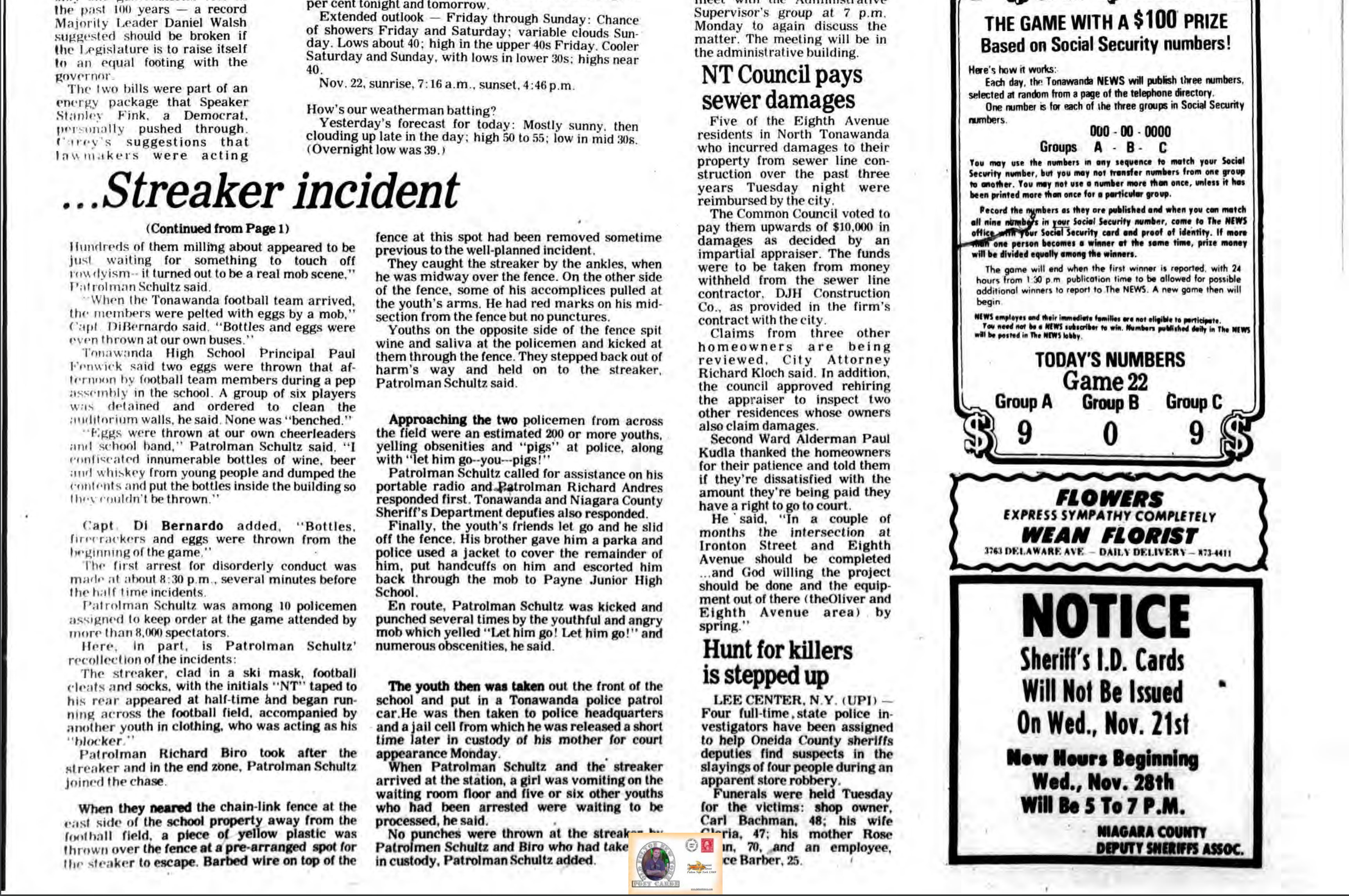 Streaker incident, article 2 of 2 (Tonawanda News, 1979-11-21, cover missing).jpg