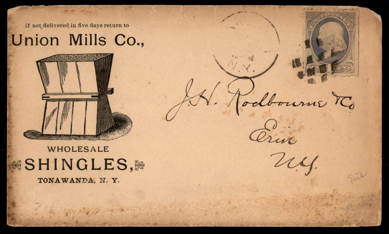 Union Mills Co, illustrated envelope (c1880).jpg