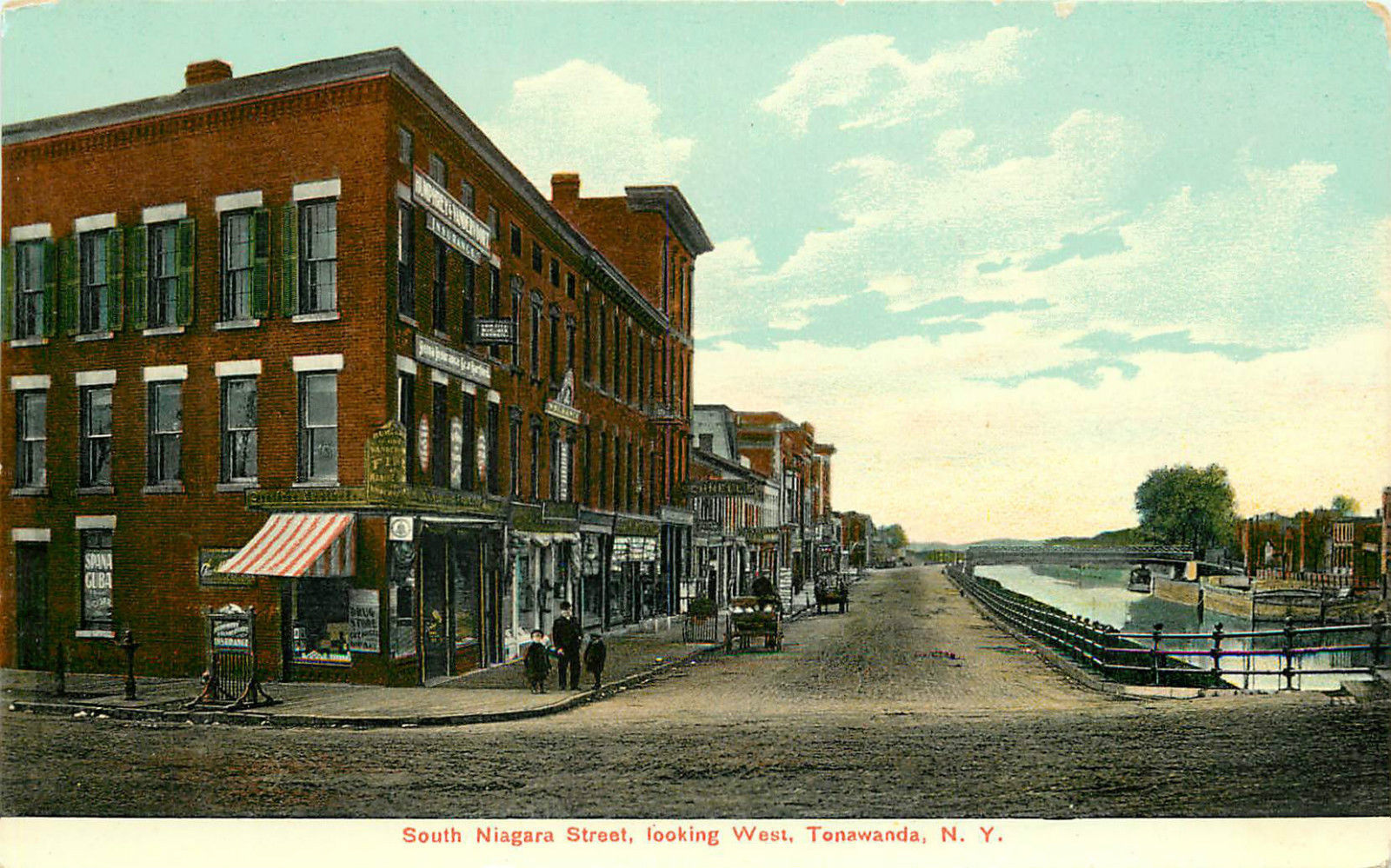 South Niagara Street, looking west, Tonawanda, postcard.jpg