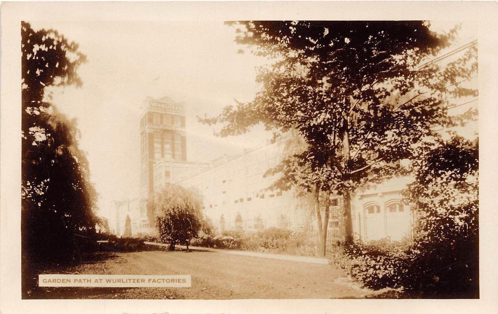 Garden Path at Wurlitzer Factories, postcard (c1925).jpg