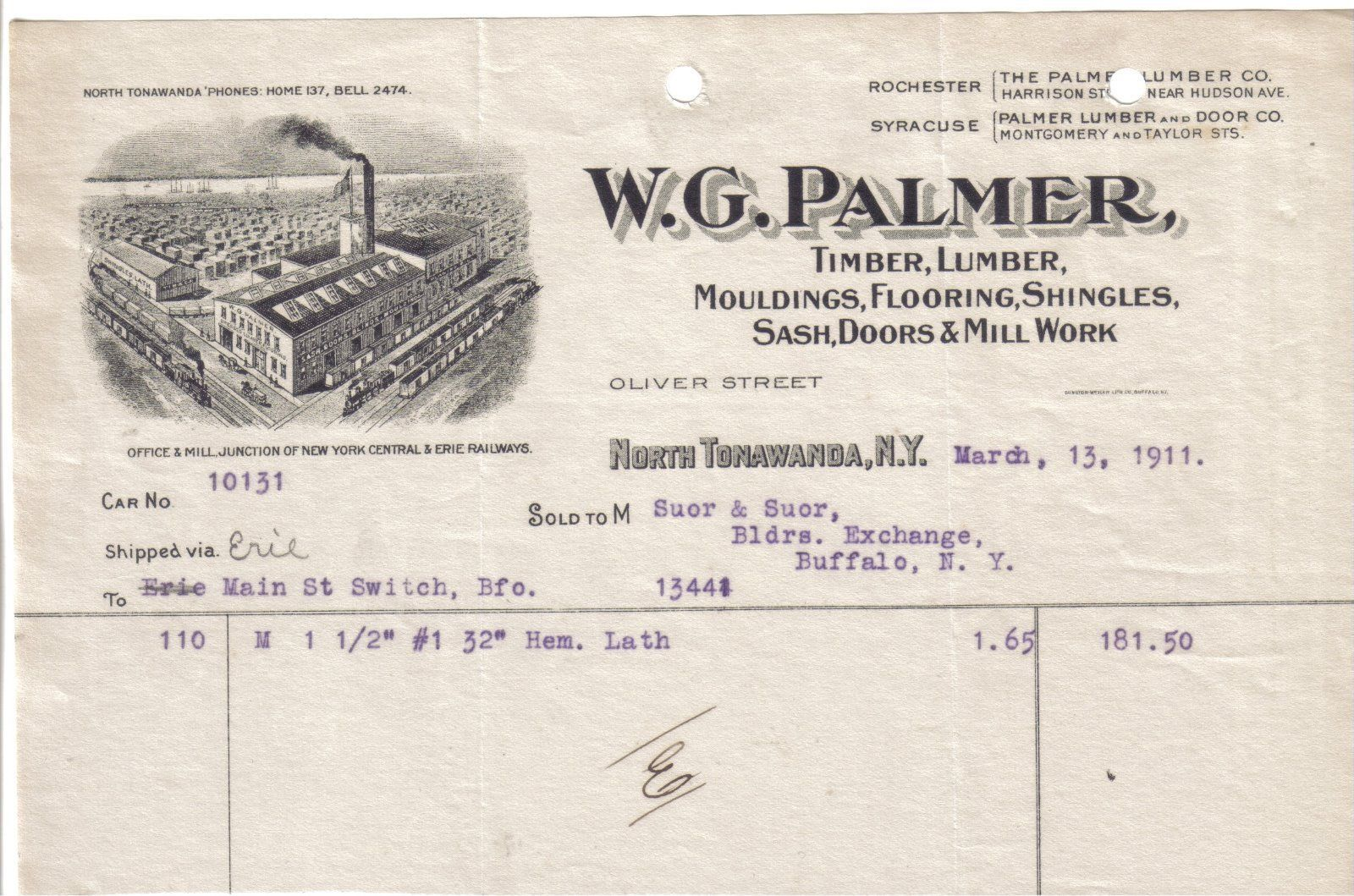 W.G. Palmer, Oliver Street, illustrated letterhead (1911-03-13).jpg