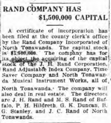 Rand Company Incorporates, aims for NTMIW and Rand Corporation, article (1920-04-08).jpg