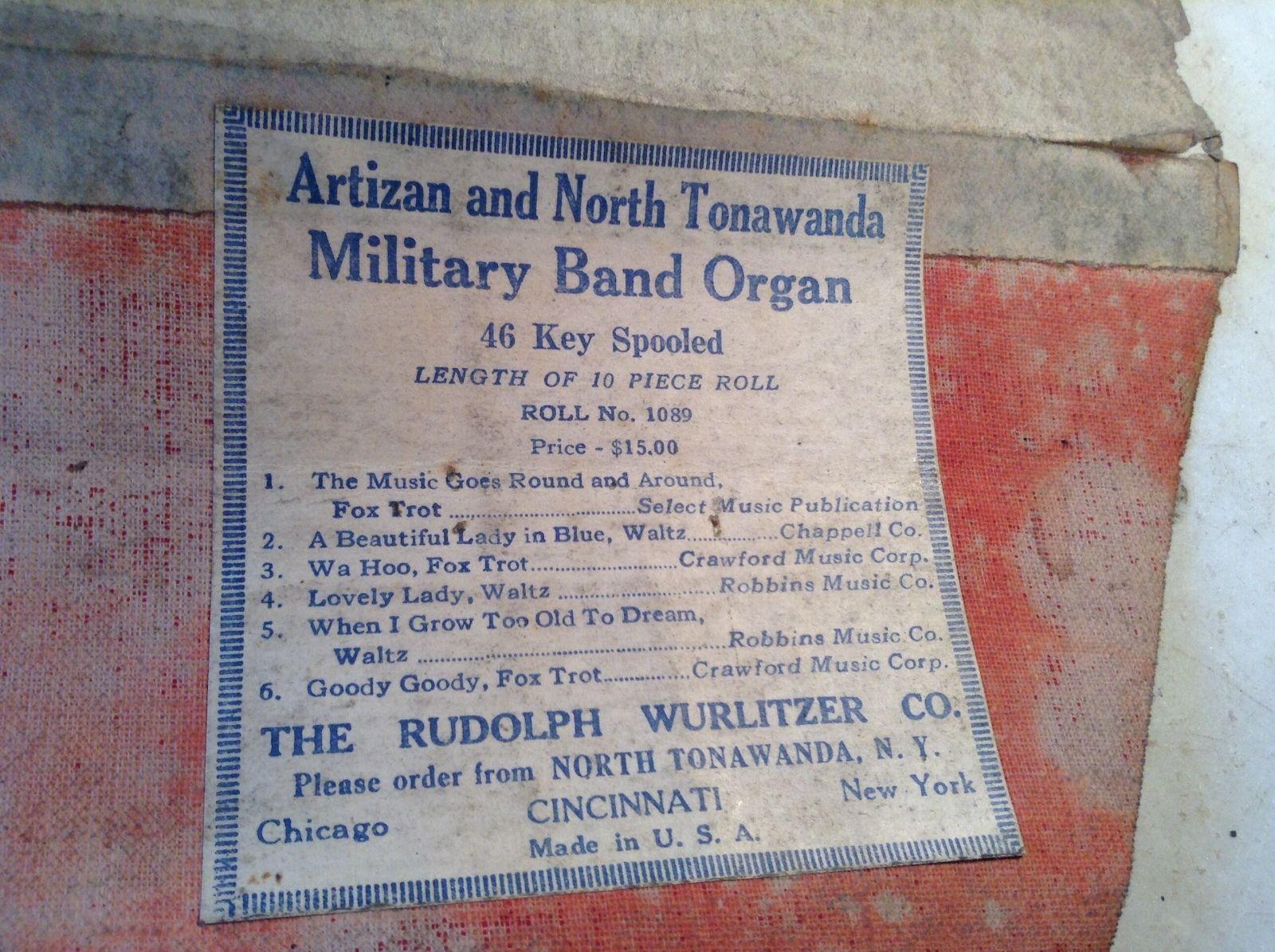 Artizan and NT Wurlitzer music roll (c1930).jpg
