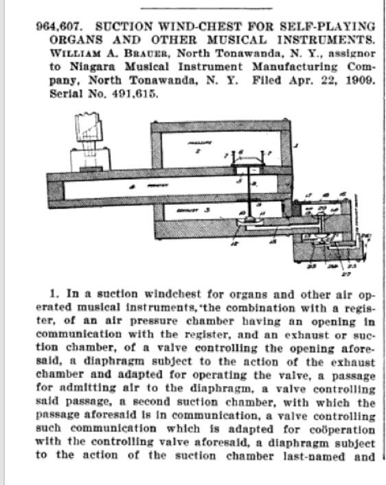William Brauer patent for Niagara MIMC, suction wind chest, illustration (1909-07-22).jpg