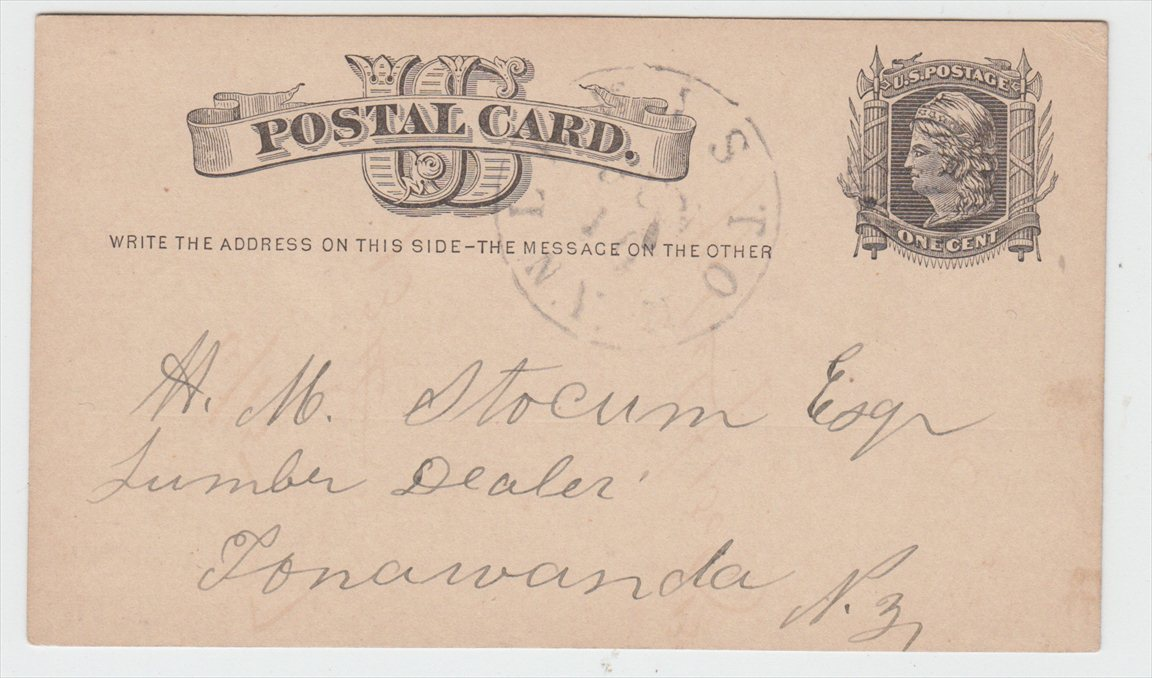 Postcard to Stocum Lumber dealer, front (1877-06-16).jpg