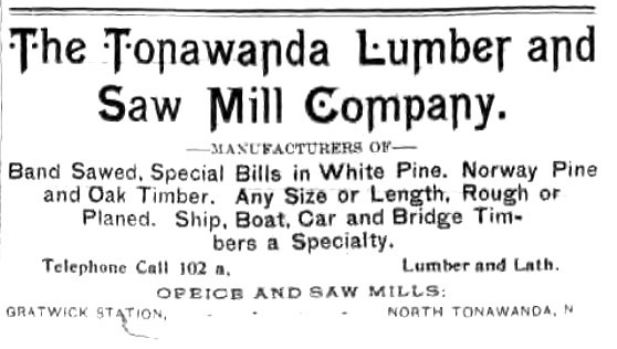 Tonawanda Lumber and Saw Mill, Gratwick Station, ad (Tonawanda News, 1893-09-29.jpg