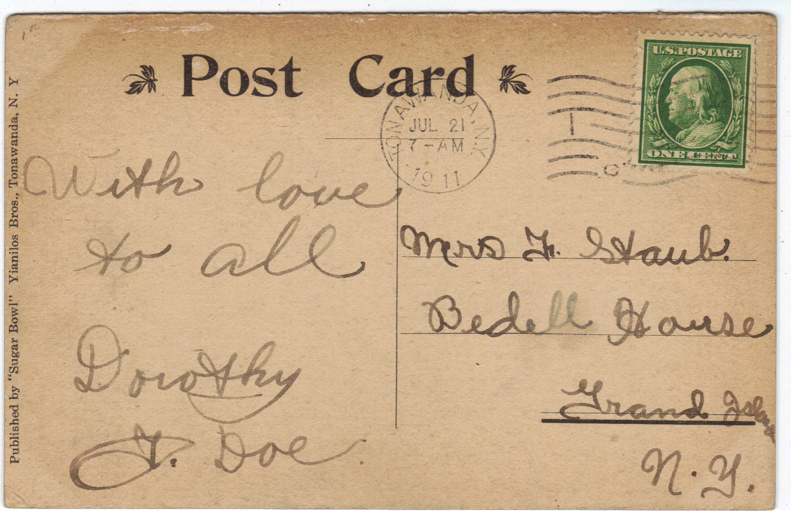 New Sugar Bowl, postcard back (1911-07-21).jpg