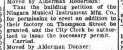 Niagara MIMC expansion carried over objection, Common Council Notes (Tonawanda News, 1910-07-29).jpg